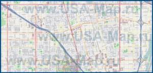 Подробная карта города Анахайм