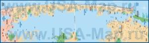 Подробная карта города Атлантик-Сити