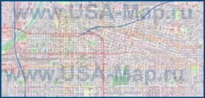 Подробная карта города Бейкерсфилд