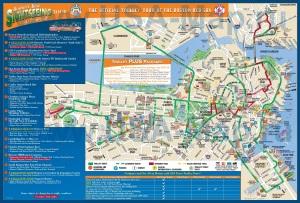 Туристическая карта Бостона