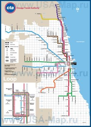 Карта метро Чикаго