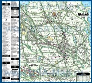 Подробная карта города Даллас