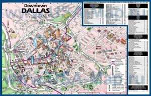 Туристическая карта Далласа с достопримечательностями