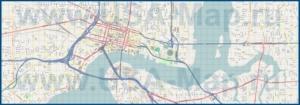 Подробная карта города Джексонвилл