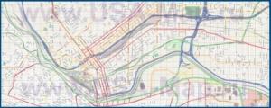 Подробная карта города Эль-Пасо