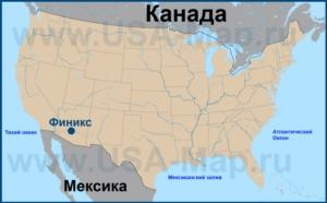 Финикс на карте США