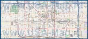 Подробная карта города Финикс