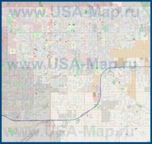 Подробная карта города Гилберт