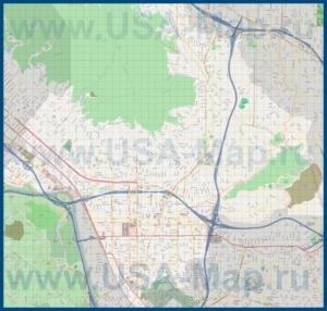 Подробная карта города Глендейл