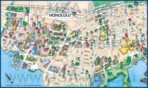 Туристическая карта Гонолулу