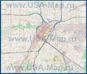 Подробная карта города Хьюстон