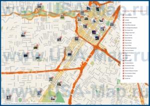 Туристическая карта Хьюстона с достопримечательностями