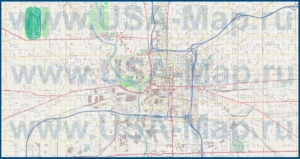 Подробная карта города Индианаполис