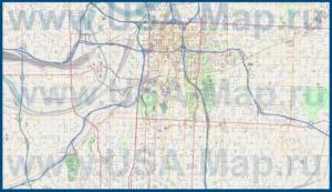 Подробная карта города Канзас-Сити
