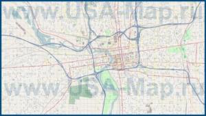 Подробная карта города Коламбус