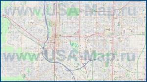 Подробная карта города Колорадо-Спрингс