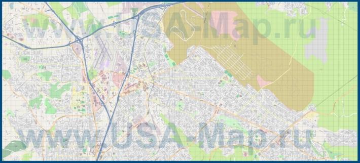 Подробная карта города Конкорд