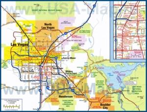 Карта дорог Лас-Вегаса и окрестностей