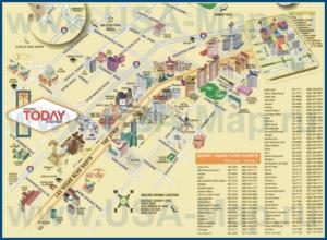 Карта Стрипа в Лас-Вегасе с казино