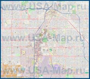 Подробная карта города Лас-Вегас