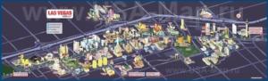 Туристическая карта Лас-Вегаса с отелями и казино