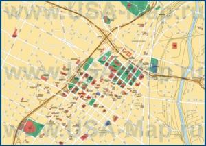 Туристическая карта Лос-Анджелеса с достопримечательностями