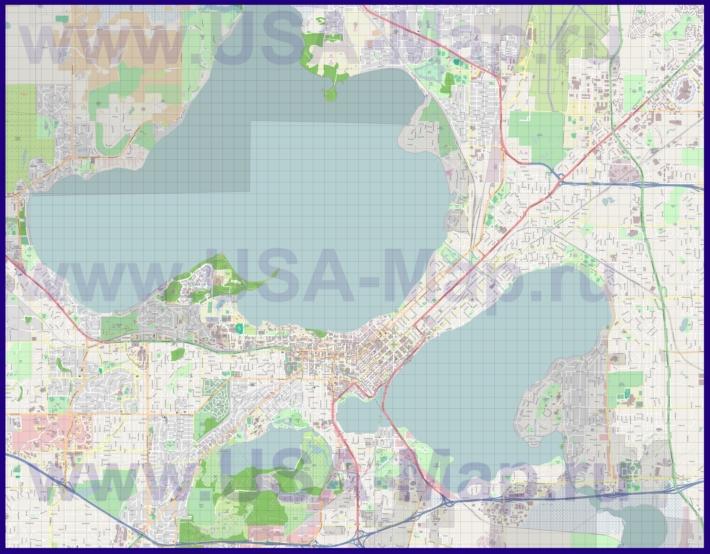Подробная карта города Мэдисон