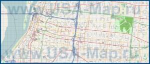 Подробная карта города Мемфис