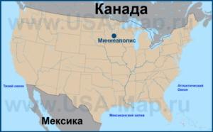 Миннеаполис на карте США