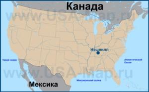 Нэшвилл на карте США