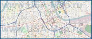 Подробная карта города Нэшвилл