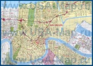 Подробная карта города Новый Орлеан