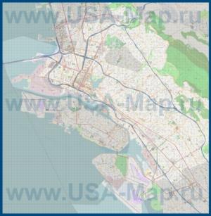 Подробная карта города Окленд