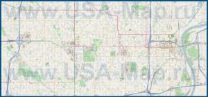 Подробная карта города Омаха