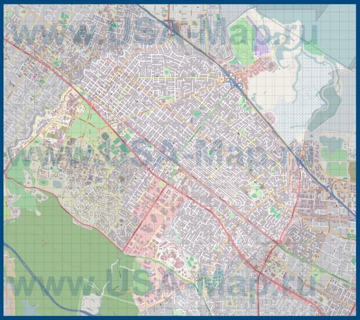 Пало-Альто на карте США