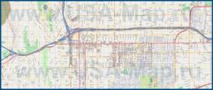 Подробная карта города Пасадена