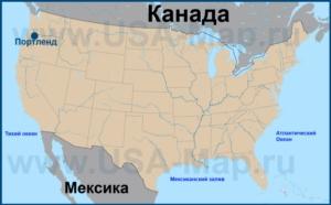Портленд на карте США