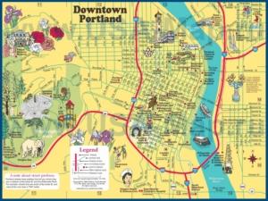 Туристическая карта Портленда с достопримечательностями