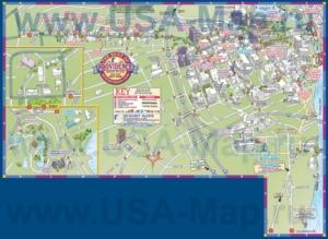 Туристическая карта Провиденса с отелями и достопримечательностями