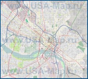 Подробная карта города Ричмонд