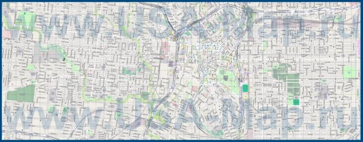 Подробная карта города Сан-Антонио