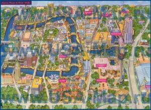 Туристическая карта центра Сан-Антонио