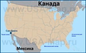 Сан-Диего на карте США