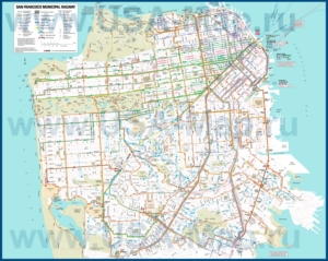 Карта маршрутов транспорта Сан-Франциско