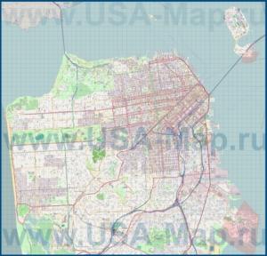 Подробная карта города Сан-Франциско