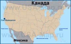 Сан-Франциско на карте США