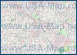Подробная карта города Сан-Хосе