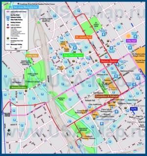 Туристическая карта Сан-Хосе с парковками