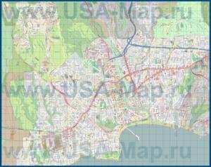 Подробная карта города Санта-Круз