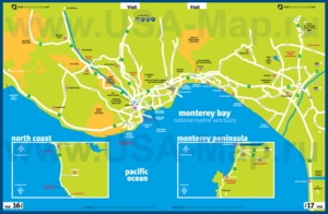 Туристическая карта Санта-Круза